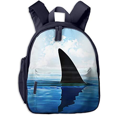 Kinderrucksack Kleinkind Jungen Mädchen Kindergartentasche Schwimmen Haifischflosse Oben Backpack Schultasche Rucksack