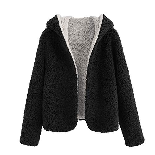 Zaful Abrigo de invierno con capucha para mujer con apertura