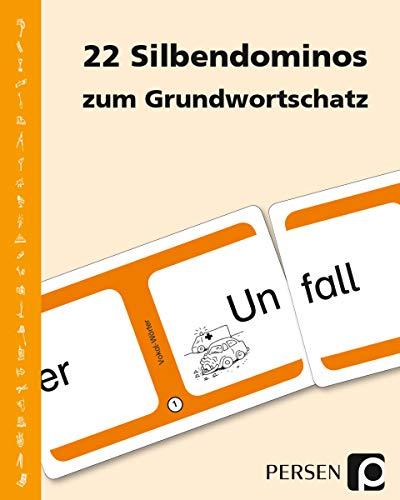 22 Silbendominos zum Grundwortschatz: 1. und 2. Klasse