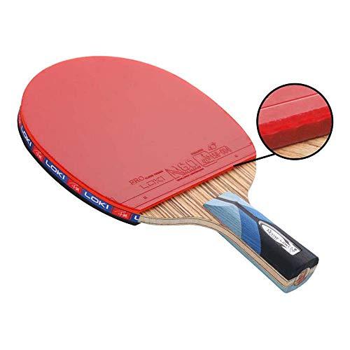 Daliwang Raqueta de Tenis de Mesa Rey de Carbono Rojo y Negro, Raqueta de Tenis de Mesa de Entrenamiento, Raqueta de Tenis de Mesa de competición, Paquete Individual,Penhold