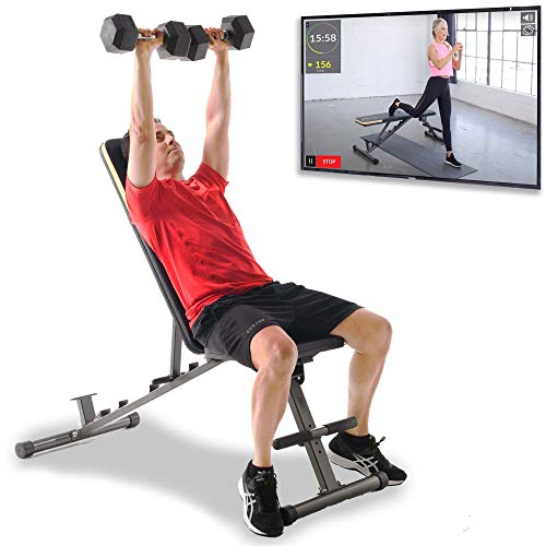 Fitness Reality 1000 Super Max Hantelbank mit 12 verstellbaren Positionen, belastbar bis 363kg