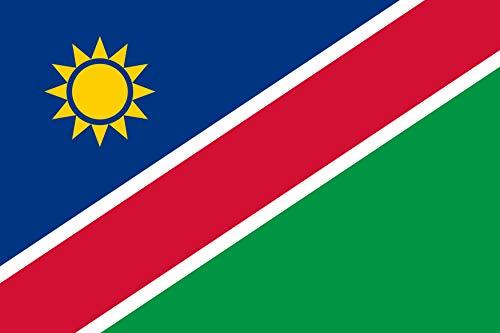 SHATCHI 11222 Große Namibia Nationalflagge Premium-Qualität mit Metallösen, Namibian Supporter Fans Rugby 2019 WM Sport Event Fußball Dekoration Party Zubehör Mehrfarbig