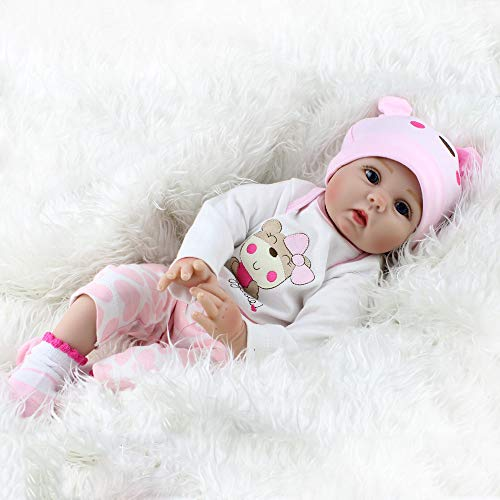 Kaydora Reborn Baby Dolls, 20 inch Lifelike Girl, Weighted Soft Body