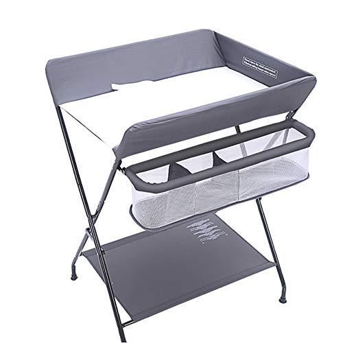 Table à Langer Pliable pour Bébé avec Rangement Unité De Commode Portable pour Organisateur Style Croisé (Couleur : Gray)