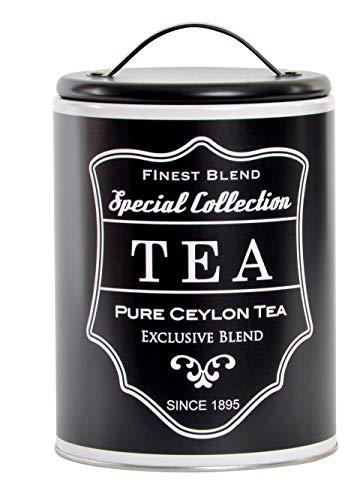 1 x Vorratsdose Teedose Blechdose mit Deckel Dose Vorratsbehälter Tee lose Teebeutel (Bistro Tee)