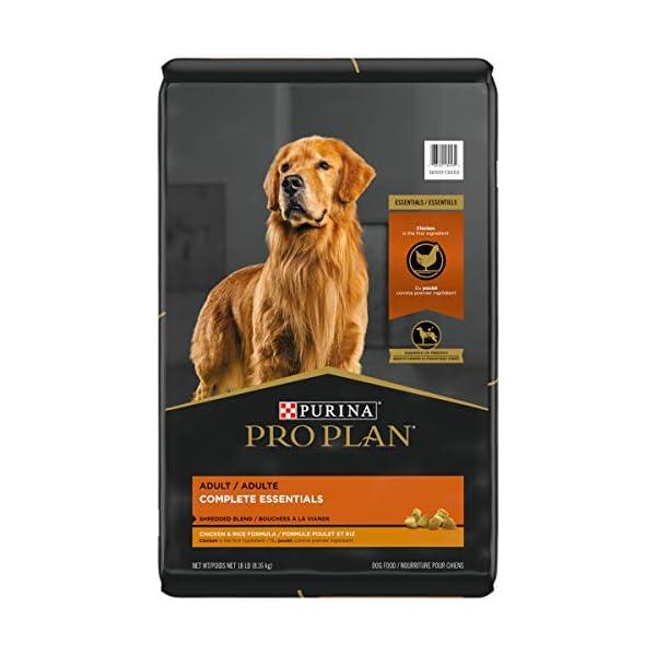 Purina Pro Plan With Probiotics, High Protein, Digestive Health Dry Dog Food, Shredded Blend Chicken & Rice Formula – 18 lb. Bag