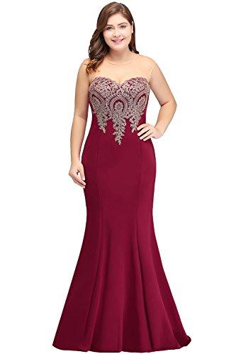 Babyonlinedress® Damen Abendkleid größe größen Langes Etuikleid Abiballkleid Kleider für Hochzeitgäste Nude Rosa 52
