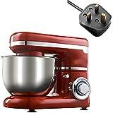 Mezclador de ayuda de cocina de 1200W Cocina de 6 velocidades Máxer de soporte de alimentos eléctricos Batidor de batidora Pastel de pastel Máquina de fabricante de pan de pan