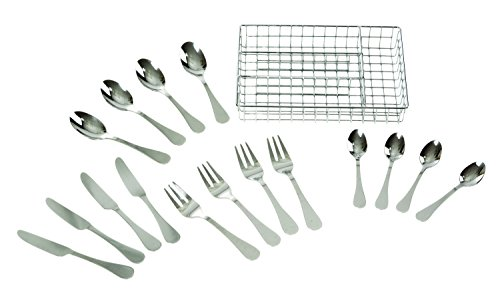 Melissa & Doug Stainless Steel Mealtime Utensil Set - Dishwasher-Safe Play Kitchen Accessories