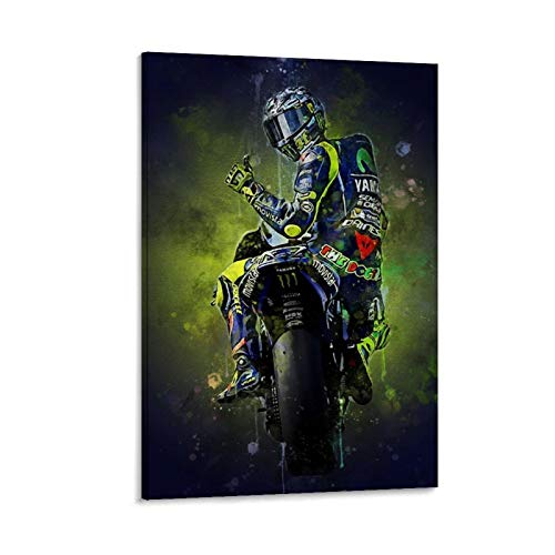 haocaitou Kunstdruck auf Leinwand, Motiv: Man-Insel-Motorrad-Rennen, Valentin Ross, modern, 50 x 75 cm