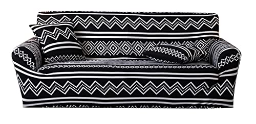 AOINHIOU Funda de sofá elástica - Funda de Tela Elástica Sofá Poliéster Spandex Tela Extensible Slipcover Que Hace Punto Cubierta del Sofá con Anti Arrugas Anti-Deslizante Diseño Protector