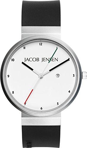 JACOB JENSEN Unisex-Armbanduhr JACOB JENSEN NEW SERIES NO. 703 Analog Quarz Kautschuk JACOB JENSEN NEW SERIES NO. 703