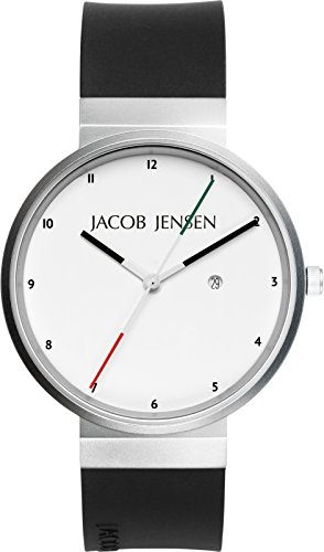 JACOB JENSEN Unisex-Armbanduhr JACOB JENSEN NEW SERIES NO. 703 Analog Quarz Kautschuk JACOB JENSEN NEW SERIES NO. 703