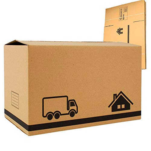 Acan Pack 12 Cajas Multiusos de cartones 80 x 40 x 40 cm