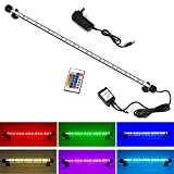 1. Colorful LED Lights --- with 16 color 4 modes and controled by wireless remote, can make your fish tank a colorful landscape. Can be widely used in fish tanks, cisterns, rockeries, pet cages and others. Bright LED Bar can make your tank look like ...