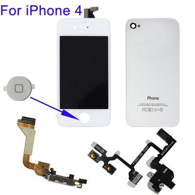Kit completo de conversión de color blanco back cover cristal táctil LCD...