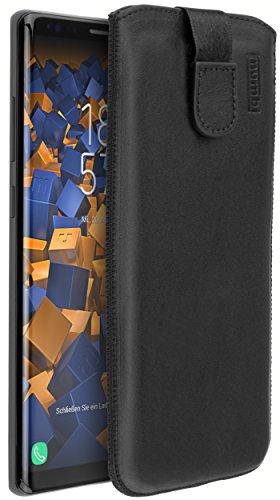 mumbi Echt Ledertasche kompatibel mit Samsung Galaxy Note 8 Hülle Leder Tasche Hülle Wallet, schwarz