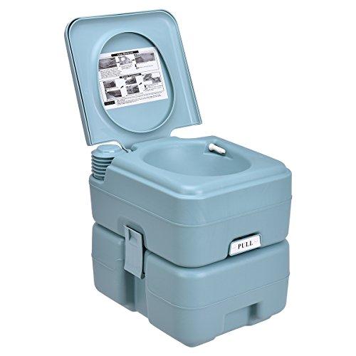 DREAMADE 20 L WC Chimico Portatile per Campeggio Toilette Portatile da Campeggio Carico 100 kg