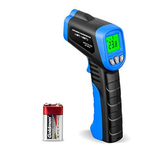 【Nicht für Menschen】Laser Infrarot Thermometer Berührungsloses IR Thermometer Pyrometer Digitale Temperaturpistole -58~662℉ mit Daten Halten+Auto Aus+℃/℉ für Küche BBQ Automotive, Farbe: Weiß & Blau