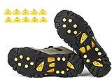 VICWARM Racos de Hielo Tracción Antideslizante Más de Zapatos/para 10 Tacos Nieve Hielo Grips Crampones Tacos Picos