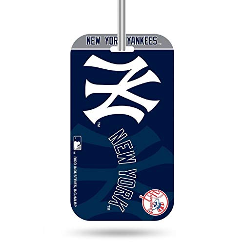 Rico Industries MLB New York Yankees KeychainKeychain Luggage Tag, Team Colors, One Size