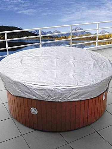 AITOCO Große runde Whirlpool-Abdeckung im Freien, wasserdichte, UV-beständige SPA-Whirlpool-Abdeckungs-Swimmingpool-Staubschutzabdeckung