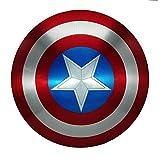 Getrichar Capitán América Disfraz Escudo Metal superhéroe Accesorios Disfraz Conjunto Halloween Adulto niño niño Cosplay Juguete 60cm