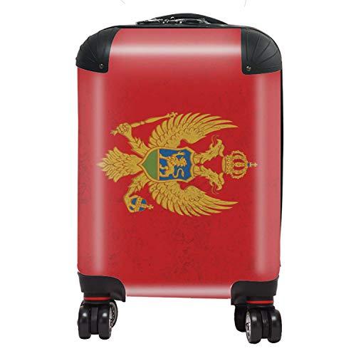 Vlag Montenegro vlag Zuid-Europa koffer kinderen cabine met TSA Lock 4 wielen draaibaar bagage tas 46 cm 29 liter