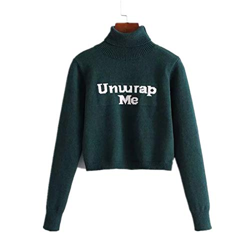 Suéter Tipo túnica Camiseta para Mujer Sudadera de Manga Larga Blusas Casuales de Color sólido Tops Suéter...