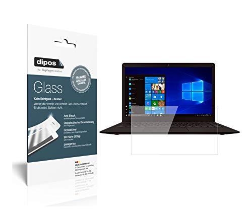 dipos I 2x skärmskydd kompatibelt med Peaq Slim PNB S130 flexibelt glas 9H skärmskydd