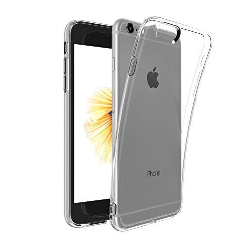 Captor Cover Trasparente per iPhone 6 6S, Custodia TPU in Silicone Flessibile Morbida e Sottile, Protezione Full Body con Bordo Rialzato per Schermo e Fotocamera