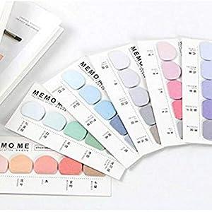 Sourcemall 6 juegos de notas adhesivas coloridas, blocs de notas – 30 colores, 900 piezas en total