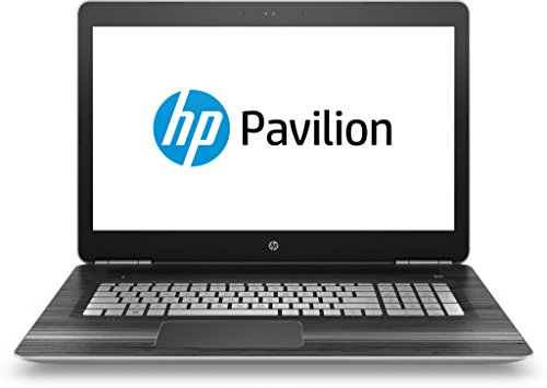 HP Pavilion (17-ab202ng) 43,9 cm (17,3 Zoll / FHD IPS) Laptop (Intel Core i7-7700HQ, 256 GB SSD, 8 GB RAM, NVIDIA GeForce GTX 1050, Windows 10 Home 64) in schwarz/silber