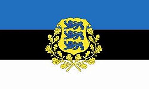 U24 Flagge Fahne Estland mit Wappen 90 x 150 cm