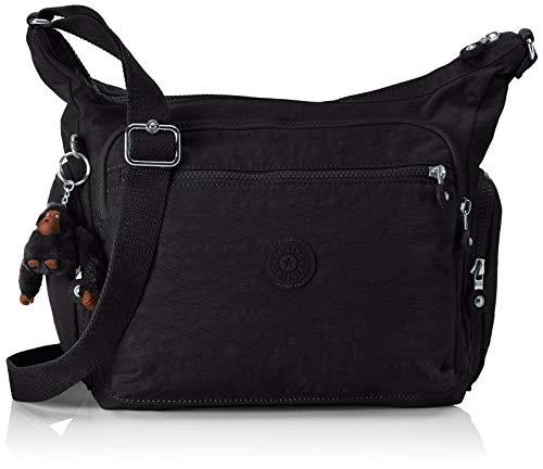 Kipling Women's Gabbie Shoulder Bag, Black (True Black), 35.5 x 30 x 18.5 cm