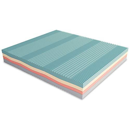 Baldiflex Materasso Matrimoniale Memory Foam 3 Strati Arcobaleno Plus Fresh 170 x 190 cm, Fodera Sfoderabile Silver Safe