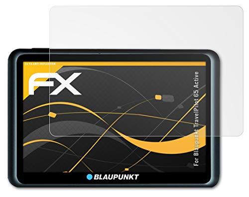 atFoliX Panzerfolie kompatibel mit Blaupunkt TravelPilot 65 Active Schutzfolie, entspiegelnde & stoßdämpfende FX Folie (3X)