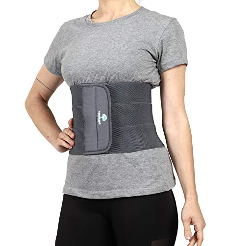 Longlife Abdominal Belt after delivery Tummy Reduction Trimmer Belly Slimming Binder for Women post pregnancy care (Grey Color, XL 38-42 Inch waist size)
