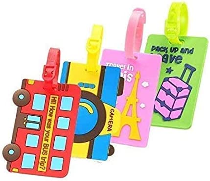 Some reservation Amandaus Cute Flexible Max 54% OFF Luggage Tags Holder Card ID Business Name