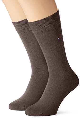 Tommy Hilfiger - 371111 - Chaussettes - lot de 2 - Homme, Marron (Oak 778), 39/42