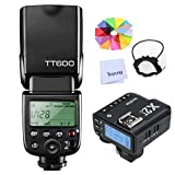 Godox TT600 HSS 1/8000S 2.4G Wireless GN60 Flash Speedlite Built in Godox X System Receiver with X2T-C Trigger Transmitter Compatible Canon Camera