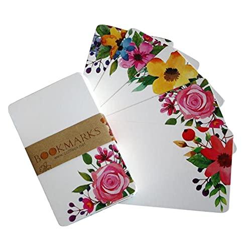 Juego de 50 piezas de papel impreso de flores, papel de escritura de letras florales, papel de escritura cuadrado impreso en blanco, tarjeta de papel de scrapbook, 3.4 x 2.1 pulgadas (colorido)