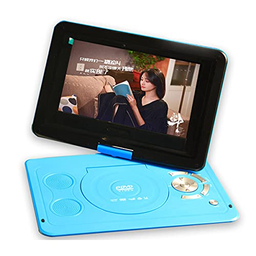 GEQWE 10.1 Zoll Tragbarer DVD-Player, Drehbar LCD Display HD DVD-Player mit Fernbedienung,Schwenkbaren Bildschirm,unterstützt VCD CD AVI CD-R/RW USB