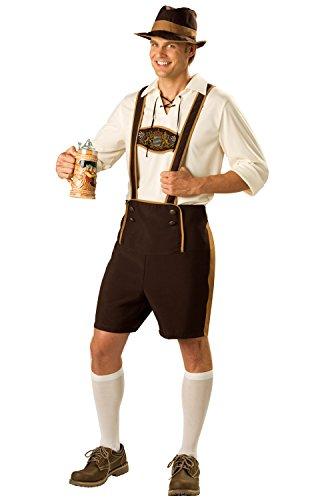 En Costumes de caract-re 181391 Guy bavarois Costume - Brown - X-Large