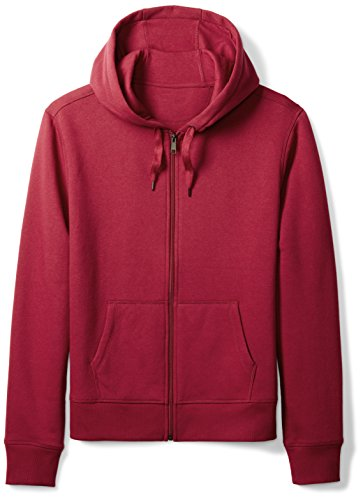 Amazon Essentials Full-Zip Hooded Fleece Sweatshirt Sudadera, Rojo (Red), XX-Large