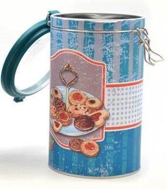 AVENUELAFAYETTE Boîte Pot hermétique Gourmandises - Vintage rétro - en métal (Biscuit)