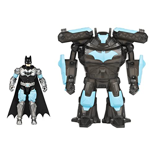 DC Comics Batman 4-inch Batman Action Figure with Transforming Tech Armor, Kids Toys for Boys Ages 3 and Up