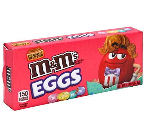 M&Ms Peanut Butter Easter Eggs -2 Packs- 3.1 oz Each- Basket Stuffer Speckled Chocolate Candy