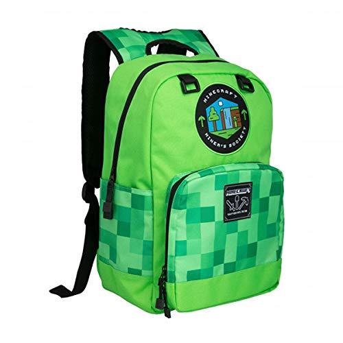 Minecraft Rucksack Miners Society Material: 100% Polyester.
