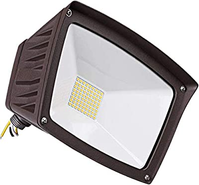 LEONLITE Dusk-to-Dawn LED Outdoor Flood Light with Photocell, 3400lm Ultra-Bright Waterproof Security Floodlight, 28W (220W Eqv.), DLC & ETL-Listed Exterior Lighting for Yard Porch